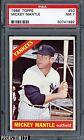 1966 Topps #50 Mickey Mantle New York Yankees HOF PSA 7 NM