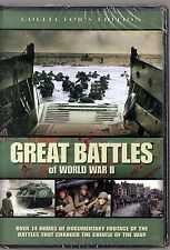 Great Battles of World War II (DVD, 2007, 4-Disc Set)  15  Documentaries