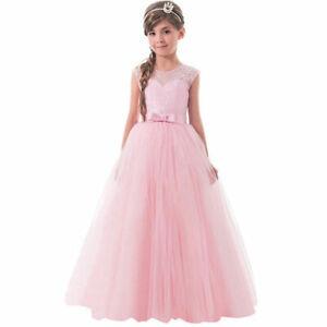 Blumenmädchen Prinzessin Kleid Hochzeit Mädchen Kommunion Party Taufe Tanz BC654