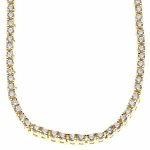 ICED Bling Zirconia Stainless TENNIS Chain - 4mm gold