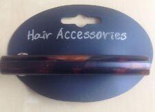 A Matt And Gloss Brown Tortoiseshell Barrette Hair Clip