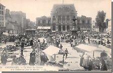 CPA 50 - Cherbourg, la Place du Château un jour de Marché