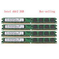NEW 8GB 4X 2GB DDR2 800MHz PC2-6400 240PIN DIMM intel Motherboard Desktop memory