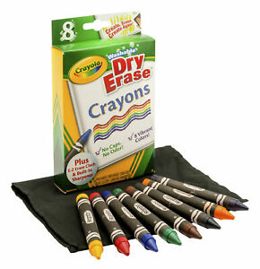 Crayola Non-Toxic Washable Dry Erase Crayon, Standard Size, Assorted Classic
