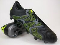 Adidas Mens Rare X 15.1 FG AG Leather B26978 Black Soccer Cleats Shoes Size 9