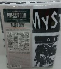 "The Press Room Collection ""Blood Bath"" Shower Curtain 72""X72"" NEW"