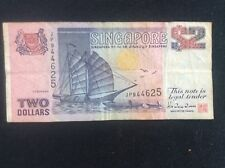Vintage Old Singapore 2 Dollars Chingay Procession BANK NOTE by Thomas De La Rue