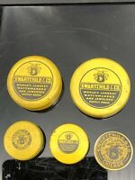 Vintage Swartchild & Co Advertising Watch/Jewelry Parts Tins...Set of 5