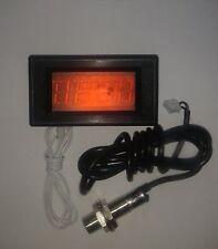 DIGITAL CONTAGIRI RPM Velocità Misuratore LED Rosso + Interruttore di prossimità sensore