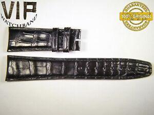 NEW OEM Authentic IWC SANTONI strap 22 mm alligator IWA67696 BLACK