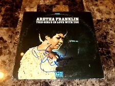 Aretha Franklin Authentic Signed Vinyl This Girl's In Love Queen of Soul + COA