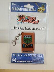 Baseball Handheld Keychain Game World's Coolest Mattel Electronic Games