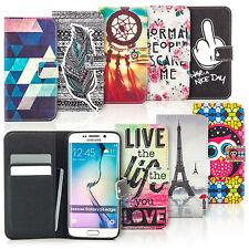 Book-Style Schutz Hülle mit Motiv Design Handy Tasche Flip Cover Slim Case Etui