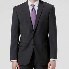 $649 Calvin Klein Mens Extreme Slim X Fit Wool Sport Coat Gray Jacket Blazer 44S