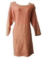 NEW LADIES Ex DEBENHAMS CHUNKY KNIT SLOUCHY CORAL FLECK JUMPER DRESS ~ S M L