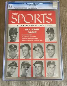 Sports Illustrated 1956 Mickey Mantle All Star Newsstand CGC 8.5 2nd Cover Pop 1