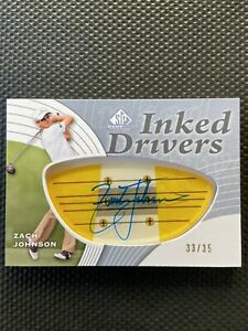 2012 SP Game Used Inked Drivers ZACH JOHNSON AUTO #33/35 (MINT)