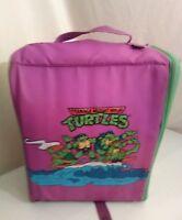 Vintage 1991 TMNT Teenage Mutant Ninja Turtles Purple Green Kids Backpack RARE!