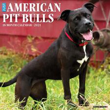 "Willow Creek Just American Pit Bull Terriers 2021 Wall Calendar 12""X12"""