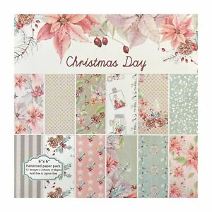 Poppy Crafts 6x6 Paper Pack 12 - Christmas Day