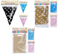 Polka Dot Kids Party Flag Bunting Banner Decoration Wedding Table Cover Loot Bag