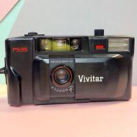 Vivitar PS 35 35mm Point & Shoot Film Camera With Case Retro Lomo Working