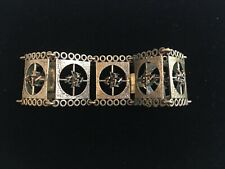 Finnish Bronze Large Link Bracelet Brutalist Design Reminiscent of Sarapaneva