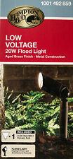 Hampton Bay 20-Watt Low Voltage Flood Light - Aged Brass - 1001 492 859 - NEW
