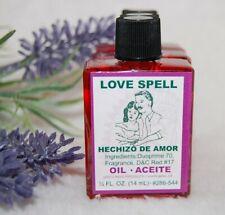 Love Spell  Oil (1) 4DRMs  Love, Binding, Seduction, Santeria, Hoodoo, Voodoo,