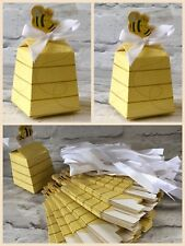 X10 Bee Gift Box Wedding Favour Baby Shower Candy Sweets Party UK SELLER