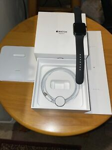 APPLE WATCH SERIES 3 W/ GPS+LTE 42MM Black Stainless Steel Case/Excellent Cond