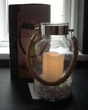 large, hurricane lamp with led candle