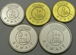 KUWAIT 5 Fils / 100 Fils 2012 - Lot of 5 Coins - UNC *