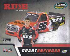 "2017 GRANT ENFINGER ""RIDE TV"" #98 NASCAR CWTS TRUCK POSTCARD"