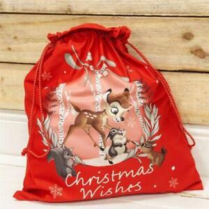 NEW Disney Christmas Bambi Velour Santa Sack