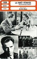 Fiche Cinéma Movie Card. La forêt pétrifiée/The petrified forest (USA) 1936 Mayo