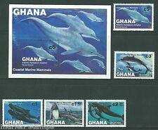 Ghana Marine Mammals Sc#841/46 Mint Never Hinged As Shown