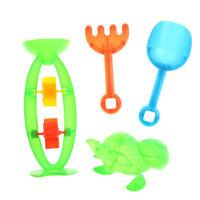 4Pcs Beach Sand Play Toys Bucket Rakes Sand Watering Sand Kids Play Bath Toys FT