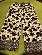 M&S Collection Womens Palm Print Pyjama  Sleep Nightwear Lounge Pant UK12 US 8