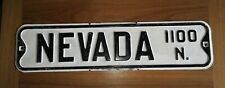 Vintage 1930-40's Colorado Springs Nevada Ave Street Sign Rare Advertising
