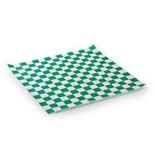 """12"""" x 12"""" Green Check Deli Sandwich Wrap Paper 1000/CS  - FAST Shipping !!"""