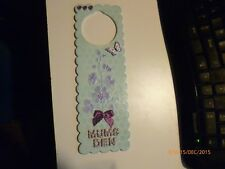 Hand-Crafted-Wooden Door Hanger 'Mums Den' One-Off Original Gifts