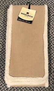 Woolrich Fleece Scarf Tan Beige Brand New w/ Tags