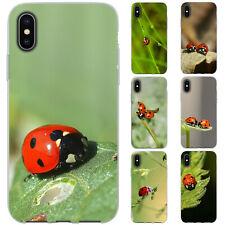 Dessana Ladybug TPU Funda Protectora Silicona Carcasa para Móvil Apple