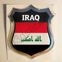 Aufkleber Irak Kfz-Aufkleber Irak Emblem Flagge 3D Fahne Motorrad Auto