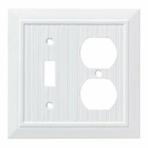 W35269-PW Classic Architect Beadboard Pure White Switch / Duplex Cover Plate