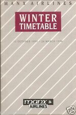 Airline Timetable - Manx - 31/10/93 - S - appears to be Edition 1