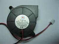 2 pcs Brushless DC Blower Fan 5015B 24V 50x50x15mm 2 Wire Ball Bearing New