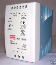 96W Single Output  24V Industrial DIN Rail Power Supply