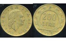 ITALIE   ITALY  200 lire 1980